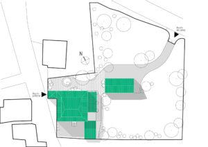 Plan de masse de maison BEU
