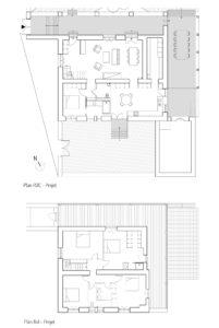 Plans des niveaux maison BEU