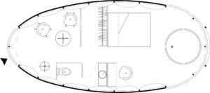 Plan de l'aménagement intérieur des cocons