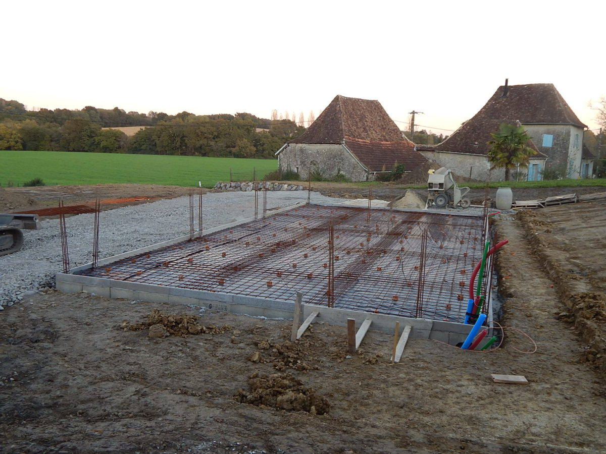 Photo de chantier en cours: fondations du garage