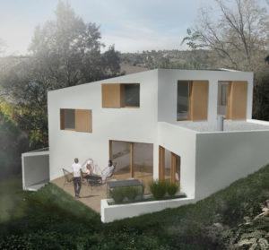 Vue extérieure de la maison MRV à Toulouse