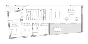 Plan Rez-de-chaussée de la maison PAL