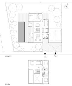 Plan des niveaux de la maison MAR à Beauzelle (31)