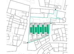 Plan de masse logements intergénérationnels Laure Minervois