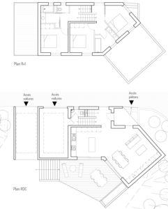 Plans des niveaux de la maison MRV à Toulouse