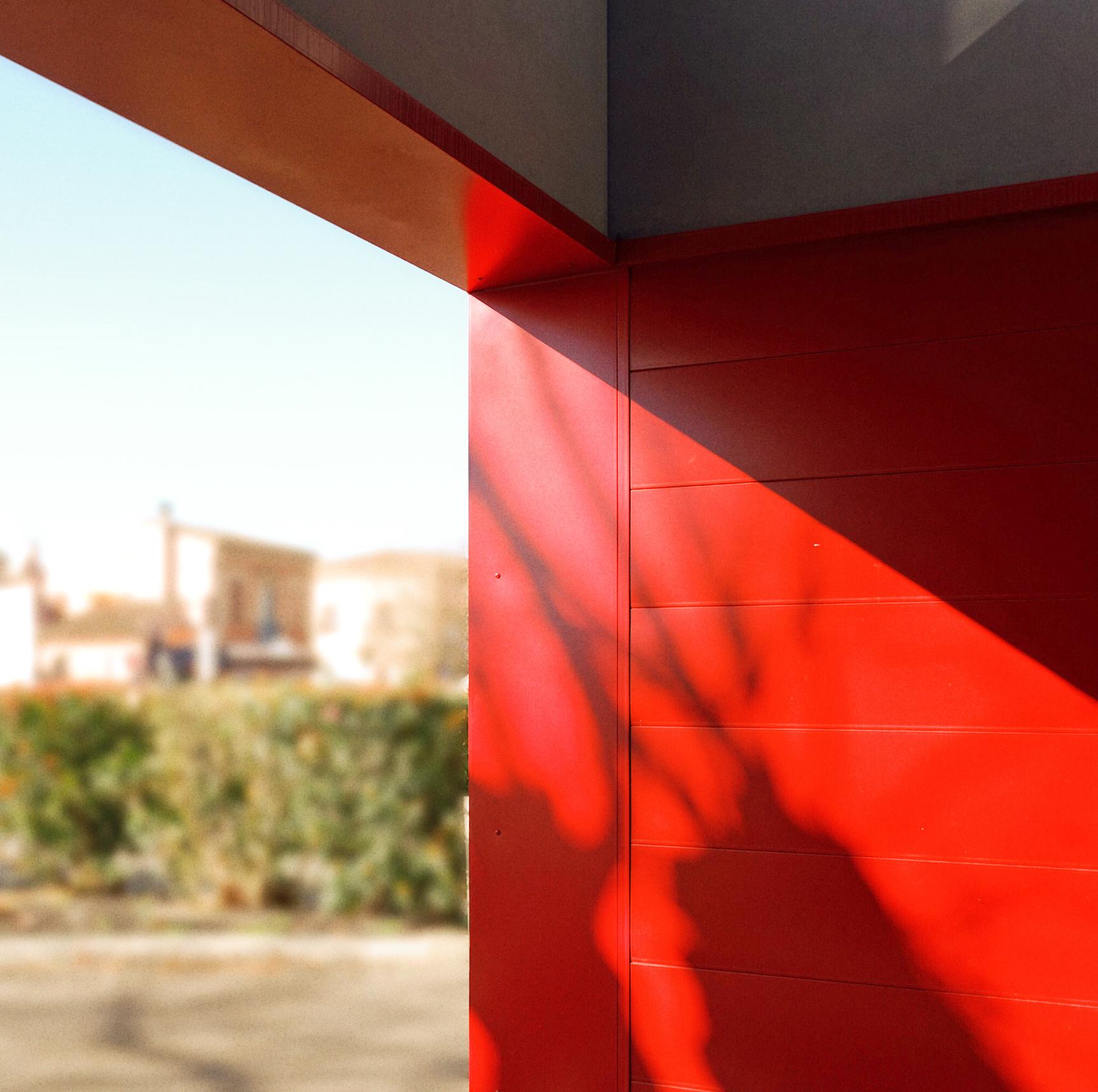 Détail cassette métallique- façade CIC Aucamville- architectes toulouse