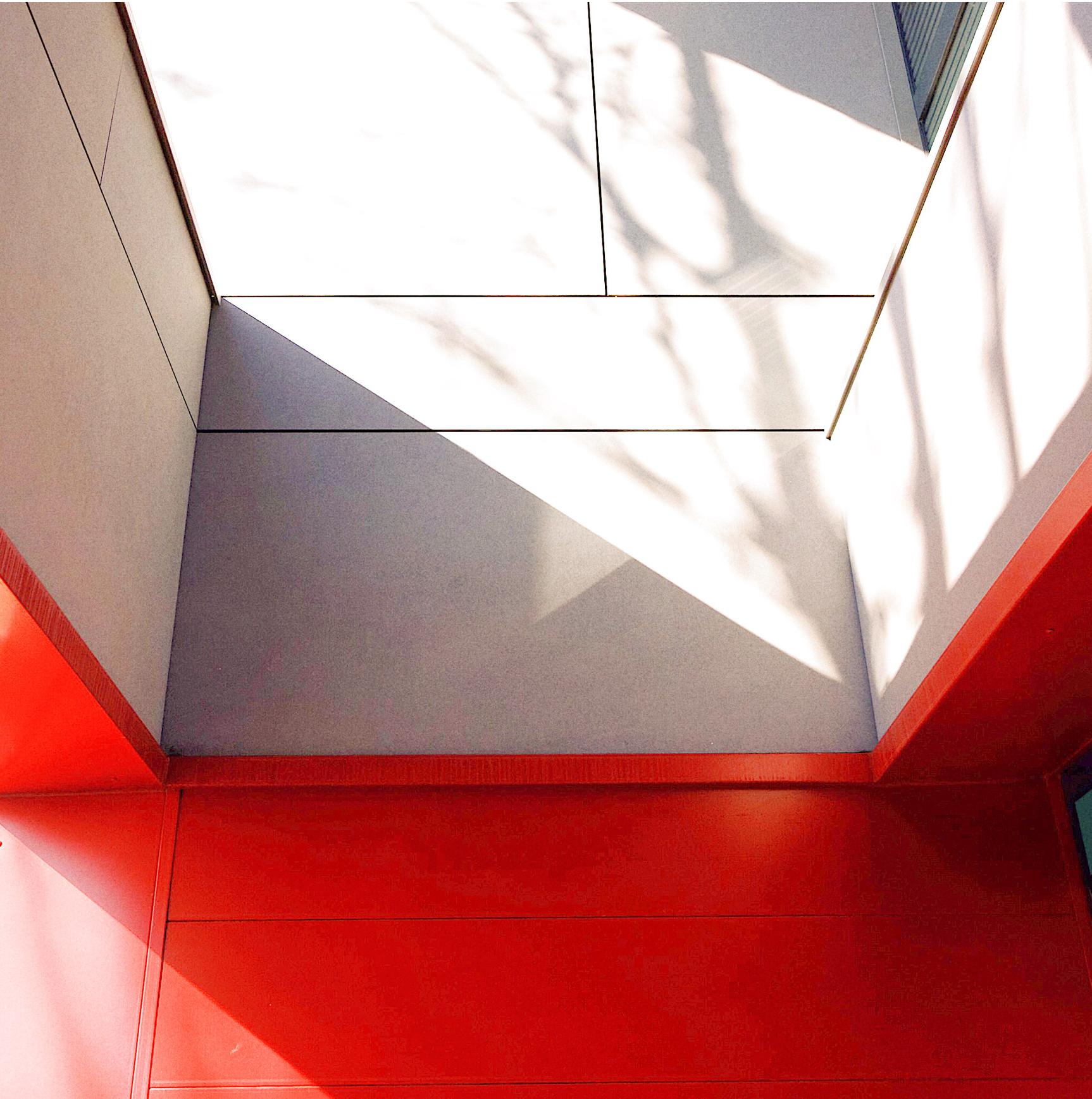 Détail de jonction matériaux-Façade CIC Aucamville- rénovation de façade d'une agence bancaire- architectes toulouse