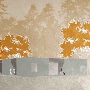 Perspective maison B- maison neuve revel st Ferréol- architectes Haute Garonne- saarchitectes