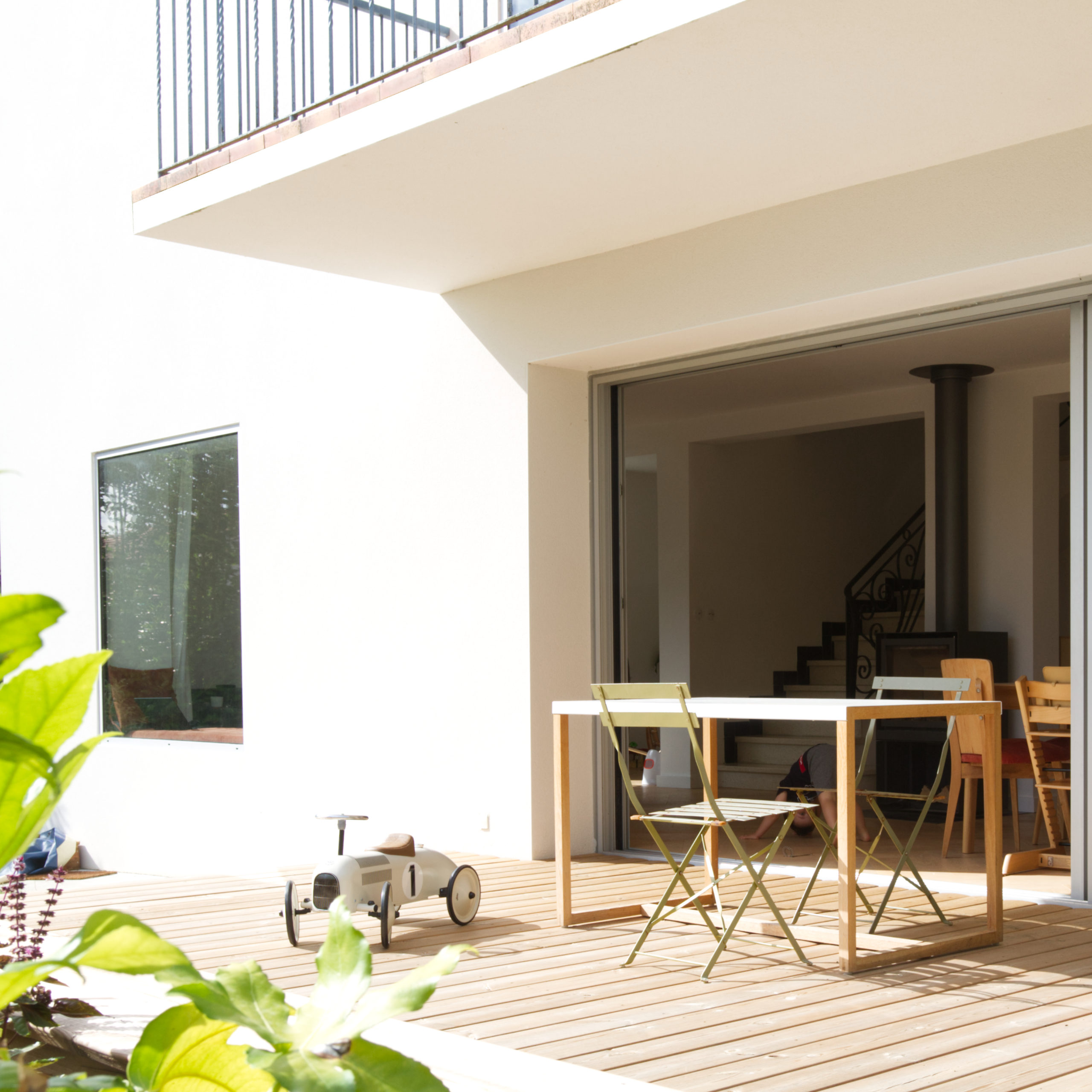 Rénovation maison A- détail de façade- terrasse bois