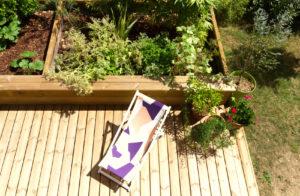 Vue terrassae-rénovation maison A- terrasse bois- architectes toulouse- ramonville-saint-agne