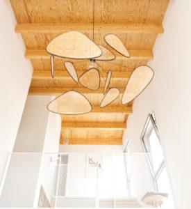 luminaire design- double hauteur séjour maison PP- architectes toulouse- saarchitectes